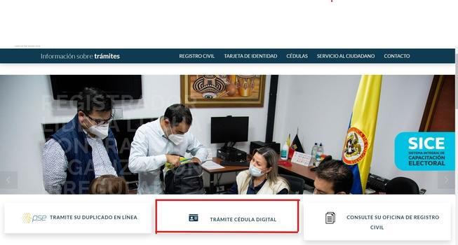 cita para la cedula digital en colombia